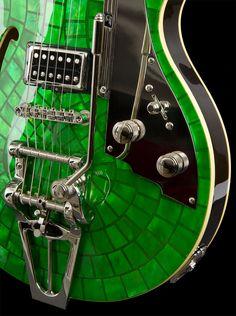 Emerald electric guitar