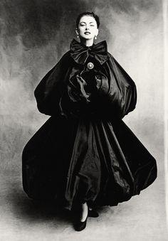 model in Balenciaga   photography by Irving Penn   Vogue, September 1950
