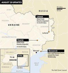 Ukraine accuses Russia of invasion http://on.wsj.com/1nJnLWq