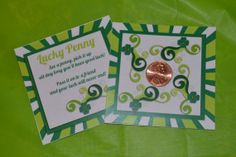 St. Patrick's Day Lucky Penny Printable for St. Patrick's Day