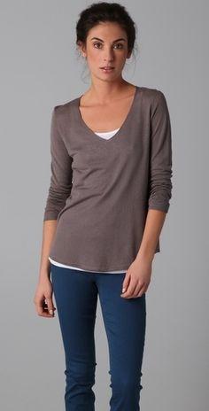 Vince V Neck Sweater - StyleSays