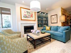 Traditional Living Rooms from Tobi Fairley : Designers' Portfolio 5698 : Home & Garden Television