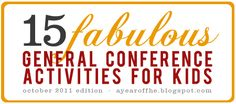 general conference ideas