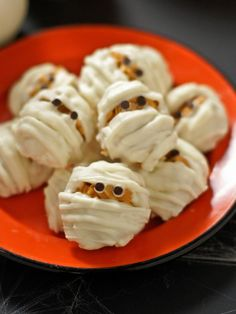 Haystack Mummies  - 25 Sweet and Salty Halloween Snack Recipes on HGTV