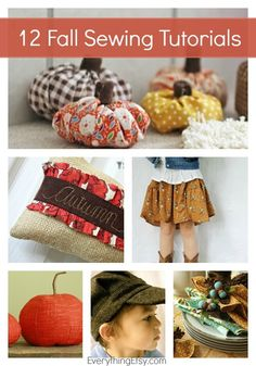 12 Fall Sewing Tutorials {DIY Genius} - EverythingEtsy.com