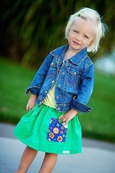 Girls Skirt...Buy 2 get 1 FREE ... kelly green corduroy skirt with flower pocket....baby...toddler...girl