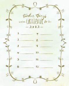 Gratitude printable - great Thanksgiving tradition to start this year!