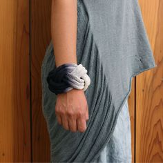 Dipped Rope Bracelet Black by Tanya Aquiniga