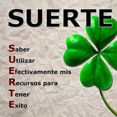 Suerte frase español, cita, de suert, cartel, del, bien dicho, reflexion, quot, pensamiento