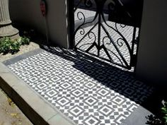 Avente Tile Project: Create drama with a cement tile #rug for an entry, patio