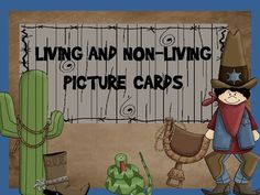 This includes 48 picture cards - 24 non living things and 24 living things picture cards. The pictures used are real-life pictures. I use these car...