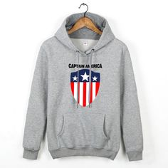 Captain America classcial logo with CAPTAIN AMERICA pullover hoodie sweatershirt