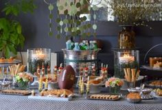 Ideas to Host Your Own Pasta Bar - Buffet Party Menu - bystephanielynn-I really want all the mini-serving things as well