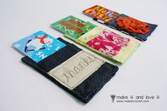 Gift Card Cozy - I always think I'm going to make some of these for the holidays, but somehow they never get done.  I should start now!