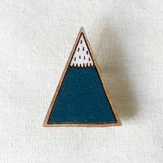 Mountain Brooch by pannikin on Etsy, $36.00