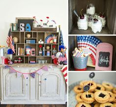 #patriotic display and #treats for #4thofJuly!