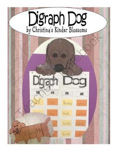 Doggone fun!! Enter for your chance to win 1 of 10.  Digraph Dog Pack (19 pages) from Kinder Blossoms on TeachersNotebook.com (Ends on on 9-29-2014)  Enjoy teaching digraphs with dog themed activities!
