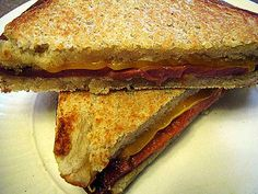 Fried Bologna sandwi