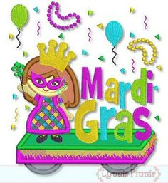 Mardi Gras PARADE Float GIRL  5x7 6x10  optional by LynniePinnie, $2.99