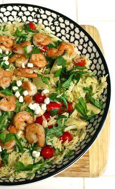 Orzo Pasta Salad with Shrimp