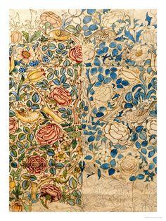 William Morris design for chintz, Rose
