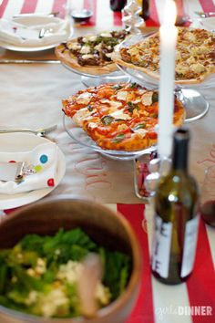 girls dinner // pizza party  Love this idea
