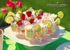mini party trifles- these have wedding written all over them.