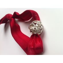 Holiday Crystal Beaded Hair Tie - Sassy Knots | Hair Ties and Accessories Great Holiday finishing touch your your hair. Free Shipping