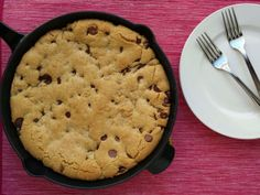 Ashley Marie's Kitchen: Skillet Chocolate Chip Cookie