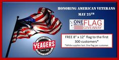 Come out on Saturday to all of our locations in the River Valley to get some great deals and a Free Flag!