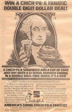 1977 Chick-fil-A Newspaper Ad