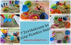 7 invitations to play Kinetic Sand!! Your Kids OT