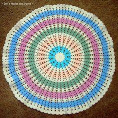 Ferris Wheel Blanket - Free crochet pattern  make a rug from pattern