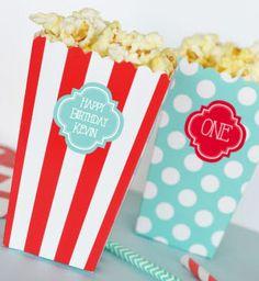 Popcorn Boxes Polkadot Striped and Chevron (Set of 12) #circus #popcorn #box