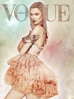 xenops:    artpixie:    Karlie Kloss illustrated by Elodie