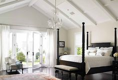 Vaulted ceiling master bedroom - one day :)