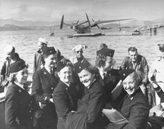 US Navy nurses arriving somewhere in the Pacific, 1944 ~