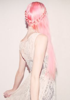 Pastel pink and braiding is hot for 2013!