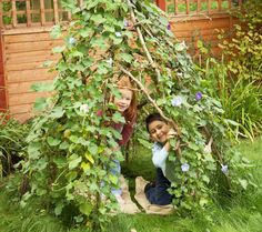 Create a garden hideout- Rain, Rain, Come and Play: Backyard Adventures for the Wet Season - ParentMap