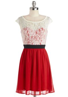 Shortcake Story Dress in Red.