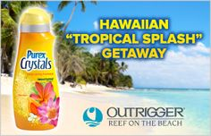 "*THIS SWEEPSTAKES HAS ENDED* Purex Crystals and Outrigger Hotels and Resorts present the Hawaiian ""Tropical Splash"" Getaway tropic splash, purex promot, purex favorit, purex crystal, hawaiian tropic"