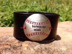 Baseball Mom cuff on Etsy, $20.00