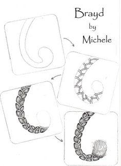drawing tutorial zentangle, zentangl tutori, braid, art, zentangl pattern, doodl, brayd, zentangle patterns, shelli beauch
