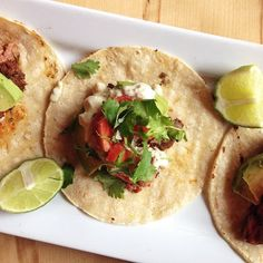Flank steak tacos at Restaurant Gus in #Montreal #beef #steak #tacos #spicy #food   © Will Travel for Food