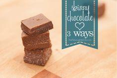 Trim Healthy Mama's Skinny Chocolate ~ 3 Different Ways