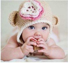 hermosos gorros tejidos bebes