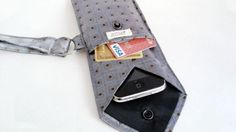 Turn a Necktie into a Smartphone Case and Wallet by TearfulTouch via Adam Dachis, lifehacker. Inspiration for a DIY? #Necktie #Smartphone