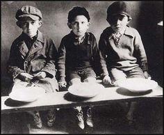 Jewish children in the Warsaw ghetto, Poland           #haunt #haunting #Jewish #holocaust #child #children