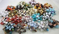 Magazine Gift Bows eco-friendly craft