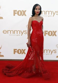 kerry washington | Kerry Washington: You can't go wrong with red! Such Elegance.